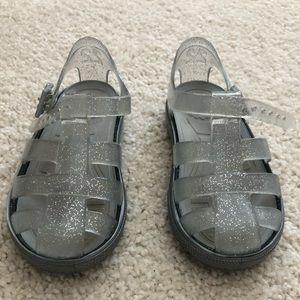 "Kids Igor sandals (""tennis "") - clear/grey sparkle"